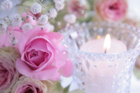 テーブル装花をメインに